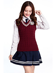1b311ce18 Student / School Uniform Schoolgirls JK Uniform Adults' Highschool Women's  Girls' Cosplay Costume Outfits For Halloween Performance Cotton Patchwork  Vest ...