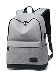 저렴한 -남여 공용 가방 옥스퍼드 배낭 지퍼 용 일상 / 학교 모든계절 & 가을 루비 / 그레이 / 네이비 블루