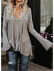 Χαμηλού Κόστους -Γυναικεία T-shirt Κομψό στυλ street Μονόχρωμο