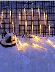 זול -2m חוטי תאורה 10 נוריות לבן חם דקורטיבי סוללות AA 1set