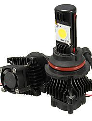Недорогие -9007 80w 5000lm 6000k белый светодиодный свет фар