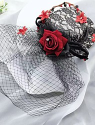 رخيصةأون -قماش قطع زينة الرأس مع قبعة 1 قطعة زفاف / حفل / مساء خوذة
