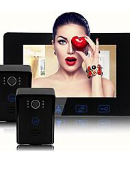 Недорогие -Factory OEM Проводное Встроенный из спикера 7 дюймовый Гарнитура Два к одному видео домофона