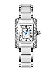 Недорогие -ASJ Жен. Нарядные часы Японский кварц Белый / Розовое золото Повседневные часы Аналоговый Мода минималист - Белый Розовое золото Один год Срок службы батареи / SSUO SR626SW + CR2025