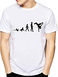 baratos -t-shirt asiático do tamanho dos homens - desenhos animados em volta do pescoço