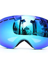 Недорогие -профессиональные лыжи мотоцикл сноуборд лыжные очки анти туман уф двойной объектив синий