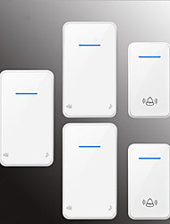 Недорогие -Беспроводное Два-три дверных звонка Музыка / Дзынь-дзынь Невизуальные дверной звонок Крепеж на поверхности