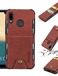 cheap -Case For Huawei P20 Pro / P20 lite Wallet / Card Holder / Shockproof Back Cover Solid Colored Soft PU Leather for Huawei P20 / Huawei P20 Pro / Huawei P20 lite