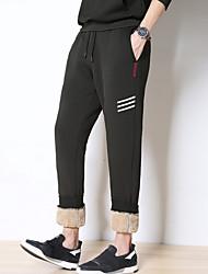 זול -בגדי ריקוד גברים סגנון רחוב צ'ינו מכנסיים פסים