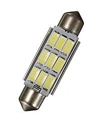 זול -חלק 1 42mm מכונית נורות תאורה 18 W SMD 5630 270 lm 9 LED תאורה ללוחית הרישוי / אורות הפנים עבור אוניברסלי / Volkswagen / Toyota גנרל מוטורס כל השנים