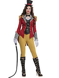 Χαμηλού Κόστους -Ο μεγαλύτερος αθλητής Σύνολα Γυναικεία Στολές Ηρώων Ταινιών Κόκκινο Γραβάτα Επίστρωση Γιλέκο Halloween Απόκριες Μασκάρεμα Πολυεστέρας
