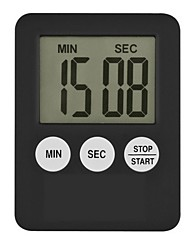 cheap -Super Thin LCD Digital Screen Kitchen Timer Square Cooking Count Up Countdown Alarm Magnet Clock Temporizador