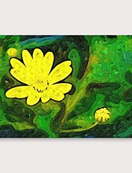 저렴한 -항으로 그린 유화 손으로 그린 - 플로랄 / 보타니칼 우아한 내부 프레임 포함