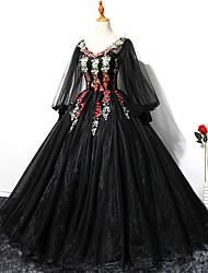 Χαμηλού Κόστους -Μαύρος κύκνος Φορέματα Γυναικεία Στολές Ηρώων Ταινιών Μαύρο Φόρεμα Halloween Απόκριες Μασκάρεμα Τούλι Πολυεστέρας