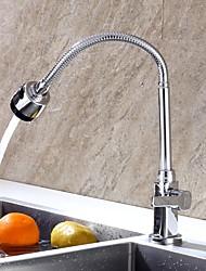 baratos -Torneira de Cozinha - Monocomando e Uma Abertura bico padrão Moderna Kitchen Taps