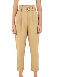 levne -dámské plus velikosti / asijské velikosti štíhlé kalhoty kalhoty - solidní khaki