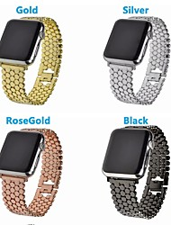Недорогие -Нержавеющая сталь Ремешок для часов Ремень для Apple Watch Series 4/3/2/1 Черный / Серебристый металл / Золотистый 19cm / 7.48 дюймы 2.2cm / 0.9 дюймы