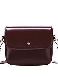 hesapli -Kadın's Çantalar PU Omuz çantası için Günlük Siyah / Kahverengi / Şarap