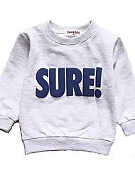 abordables -bébé Garçon Actif / Basique Quotidien / Sports Couleur Pleine Manches Longues Normal Coton Pull à capuche & Sweatshirt Gris Clair