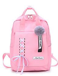 저렴한 -여성용 가방 캔버스 배낭 지퍼 용 일상 / 학교 모든계절 & 가을 블러슁 핑크 / 그레이 / 옐로우