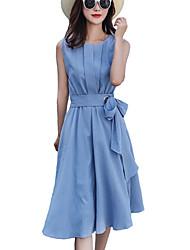 رخيصةأون -فستان نسائي ثوب ضيق أنيق كشكش ميدي ترايبال مناسب للحفلات مناسب للخارج