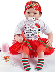 Χαμηλού Κόστους -FeelWind Κούκλες σαν αληθινές Κορίτσι κορίτσι Μωρά Κορίτσια 20 inch Σιλικόνη Βινύλιο - όμοιος με ζωντανό Χειροποίητο Χαριτωμένο Παιδικό / Εφηβικό Μη τοξικά Παιδικά Γιούνισεξ Παιχνίδια Δώρο