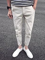 זול -מכנסי ג 'ינס של גברים - מוצק בצבע שחור