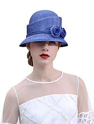 Недорогие -Чудесная миссис Мейзел Жен. Взрослые Дамы Ретро Колпак шляпа шляпа Синий Цветы Шифон Головные уборы