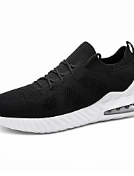 baratos -Homens Sapatos Confortáveis Tricô Primavera / Outono Esportivo / Casual Tênis Corrida Não escorregar Branco / Preto / Vermelho
