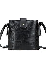 Χαμηλού Κόστους -Γυναικεία Τσάντες PU Τσάντα ώμου Συμπαγές Χρώμα Μαύρο / Καφέ / Καφέ