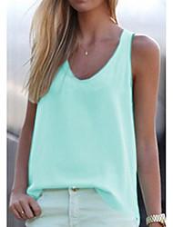 저렴한 -여성용 솔리드 티셔츠, 스트리트 쉬크