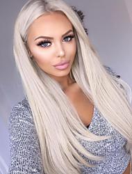 저렴한 -WoWEbony 퓨젼 / I 팁 인간의 머리카락 확장 직진 미처리 인모 인모 연장 브라질리언 헤어 실버 1개 최고의 품질 여성용 플래티넘 금발