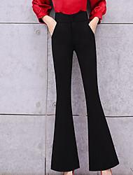 זול -מכנסי צ 'ינס נשים רזה - מוצק בצבע שחור