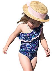Χαμηλού Κόστους -Παιδιά / Νήπιο Κοριτσίστικα Ενεργό / Βασικό Καθημερινά / Εξόδου Γεωμετρικό Στάμπα Αμάνικο Πολυεστέρας Μαγιό Θαλασσί