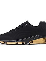 baratos -Homens Sapatos Confortáveis Tissage Volant Outono Tênis Corrida Dourado / Branco / Preto
