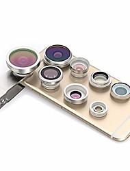 Недорогие -Объектив для мобильного телефона Объектив с фильтром / Объектив фиш-ай / Широкоугольный объектив стекло / Пластиковые & Металл / Алюминиевый сплав 2X 4 mm 3 m 235 °