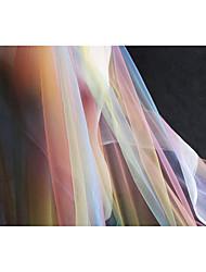 economico -Tulle Tinta unita Fantasia/disegno 140 cm larghezza tessuto per Quilting-tessuto venduto di il metro