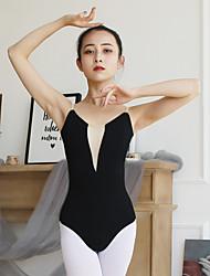 olcso -Balett Akrobatatrikó Női Edzés / Teljesítmény Pamut / Elasztán Kombinált Ujjatlan Akrobatatrikó / Egyrészes