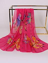 abordables -Femme Basique Foulard Rectangulaire Fleur