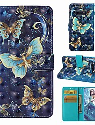 Недорогие -Кейс для Назначение SSamsung Galaxy S9 / S9 Plus / S8 Plus Кошелек / Бумажник для карт / Флип Чехол Бабочка Твердый Кожа PU