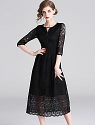 رخيصةأون -المرأة ميدي ضئيلة خط اللباس الأسود s م ل xl