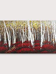 abordables -Peinture à l'huile Hang-peint Peint à la main - Abstrait Moderne Inclure cadre intérieur