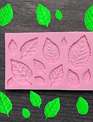 Недорогие -листья силиконовые формы помадка плесень украшения торта инструменты шоколад плесень выпечки плесень