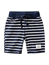 halpa -Lapset Poikien Raidoitettu Polyesteri Shortsit Tumman harmaa