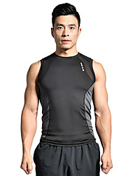 cheap Sports & Outdoors-HUNK PLUS Men's Crew Neck Compression Shirt Running Tank Top Compression Tank Top Black Sports Solid Color Elastane Compression Clothing Tank Top Top Fitness Gym Workout Workout Sleeveless Activewear