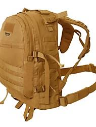 billige -45 L Vandring Ryggsekk Militær Taktisk Ryggsekk - Regn-sikker Utendørs Vandring Nylon Svart Brun