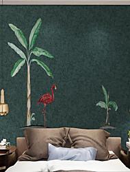 Χαμηλού Κόστους -Τοιχογραφία / Παντόφλες Nonwoven Κάλυψης τοίχων - κόλλα που απαιτείται Δέντρα / Φύλλα / Art Deco / 3D