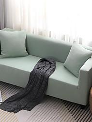 billige -Sofatrekk Ensfarget Garn Bleket Polyester slipcovere