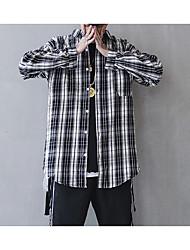 זול -פסים צווארון עומד(סיני) רזה חולצה - בגדי ריקוד גברים