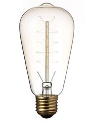 levne -1ks 40 W E26 / E27 ST64 Žlutá transparentní tělo 220-240 V